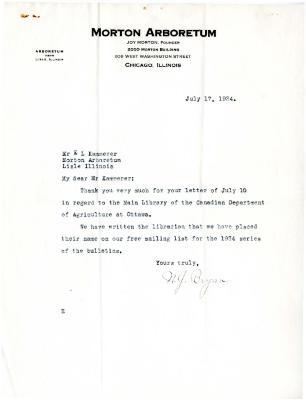 1934/07/17: N. J. Bryan to E.L. Kammerer