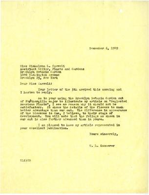 1949/12/06: E.L. Kammerer to Michalena Carroll