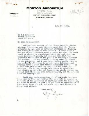 1934/07/17: N.J. Bryan to E.L. Kammerer