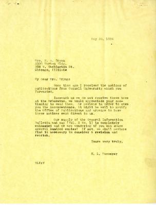 1934/05/28: E.L. Kammerer to N.A. Bryan