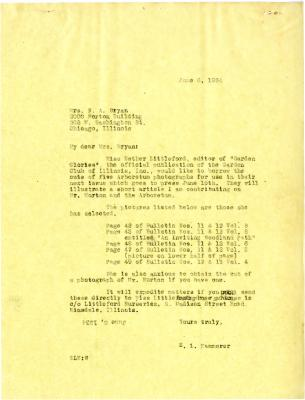 1934/06/06: E.L. Kammerer to N. A. Bryan