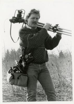Gary Irving in the field with camera equipment
