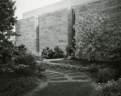 Sterling Morton Library, exterior, north side wing
