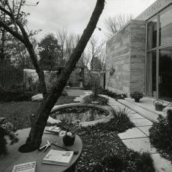 May T. Watts Reading Garden, view looking southwest