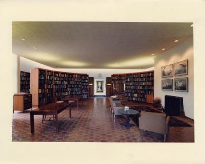Sterling Morton Library, reading room center looking west