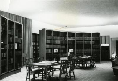 Sterling Morton Library, reading room, center, facing southwest