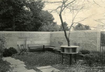 May T. Watts Reading Garden, northwest corner