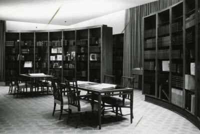 Sterling Morton Library, reading room, center, facing southeast