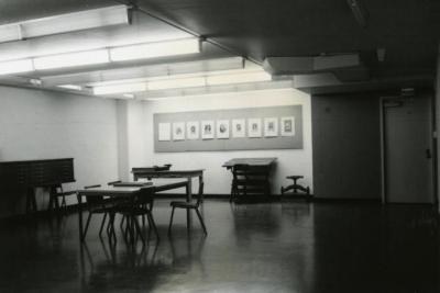 Sterlng Morton Library, basement, work area