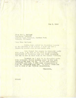 1942/05/06: E. Lowell Kammerer to Miss McAdams