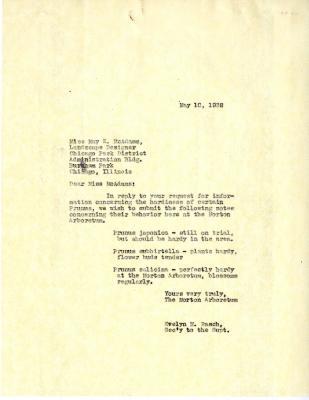 1938/05/10: Evelyn M. Rasch to Miss McAdams