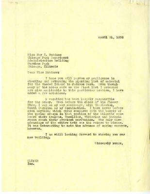 1936/04/21: E.L. Kammerer to May McAdams