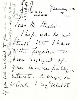 1925/01/07: M. S. Potter to C. S. Sargent