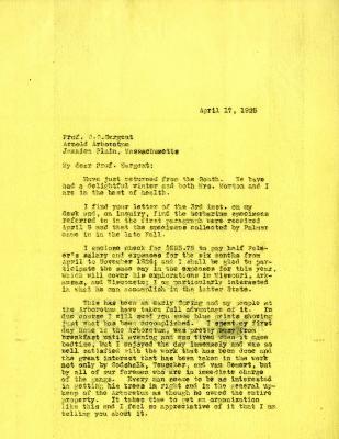 1925/04/17: Joy Morton to C. S. Sargent
