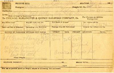 1924/11/06: Freight Bill