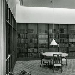 Sterling Morton Library, reading room, southeast corner w/ study table