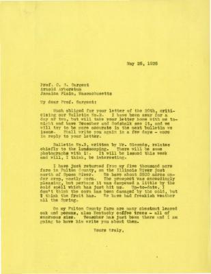 1925/05/25: Joy Morton to C. S. Sargent