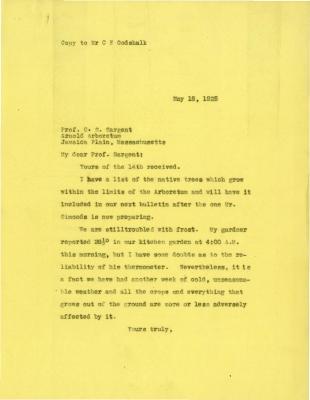 1925/05/18: Joy Morton to C. S. Sargent