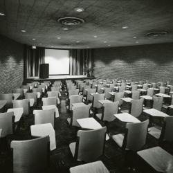 Cudahy Auditorium, podium on side of stage