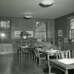 Administration Building Library, books open on tables