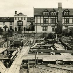 Morton Residence at Thornhill, exterior, library wing construction