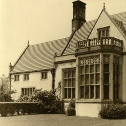 Morton Residence at Thornhill, exterior, library side view