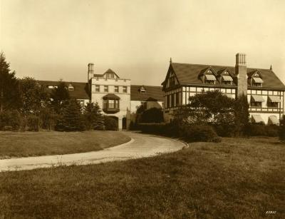 Morton Residence at Thornhill, exterior, view from west
