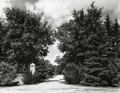 Morton Residence Grounds at Thornhill, early entrance gates