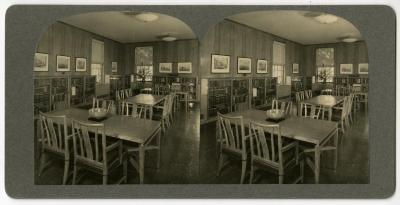 Administration Building Library, stereograph
