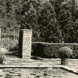 Morton residence grounds at Thornhill, residence garden pond