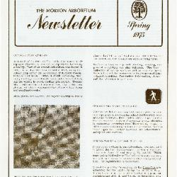 The Morton Arboretum Newsletter, Spring 1975