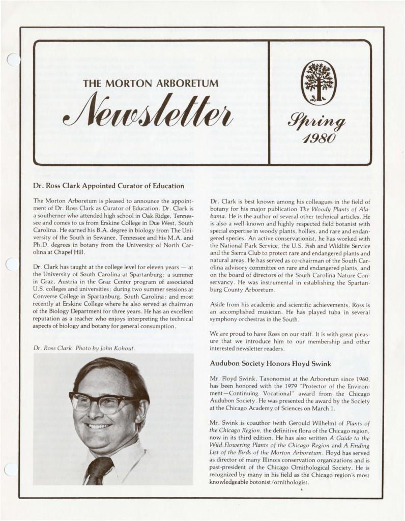 The Morton Arboretum Newsletter, Spring 1980