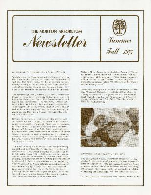 The Morton Arboretum Newsletter, Summer-Fall 1975