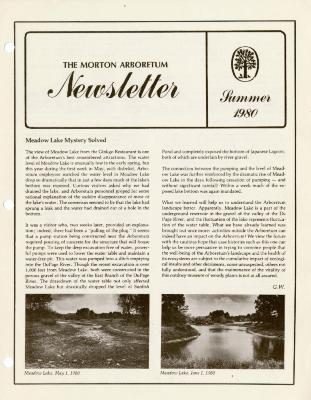 The Morton Arboretum Newsletter, Summer 1980