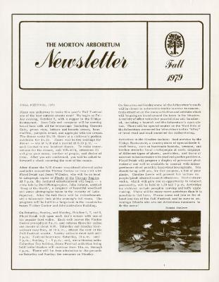 The Morton Arboretum Newsletter, Fall 1979