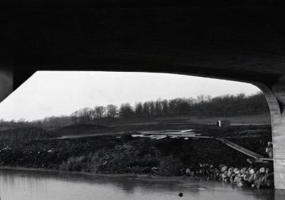 Under DuPage River bridge looking toward Cedar Point