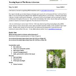 Plant Health Care Report: Issue 2019.5