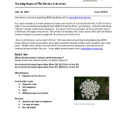 Plant Health Care Report: Issue 2019.9