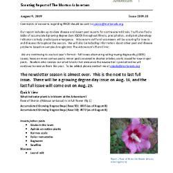 Plant Health Care Report: 2019.10