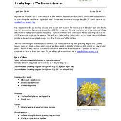 Plant Health Care Report: Issue 2019.2