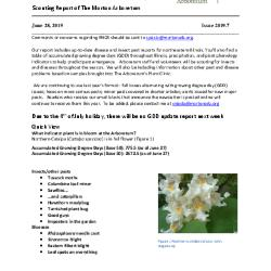 Plant Health Care Report: Issue 2019.7