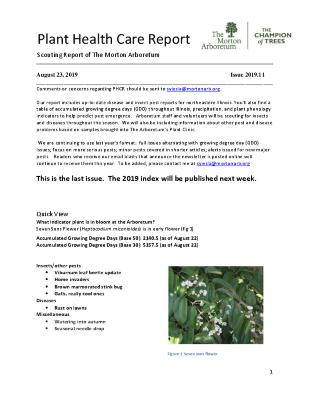 Plant Health Care Report: 2019.11