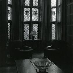 Founder's Room, bay and leaded glass windows