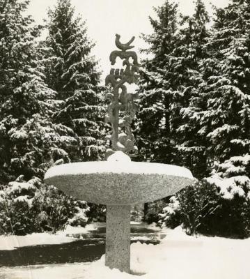 Raintree Fountain, in winter