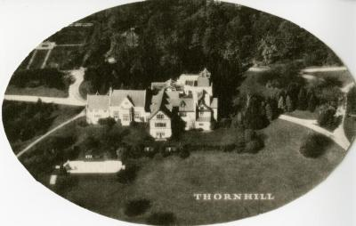 Morton Residence at Thornhill, aerial view