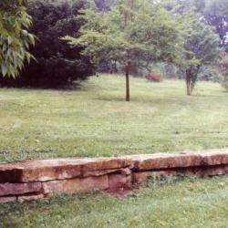Stone seating wall, near Appalachia Collection