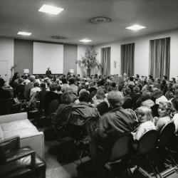 Thornhill Education Center, lecture hall with audience