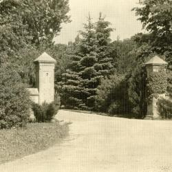 Arbor entrance to Morton residence grounds