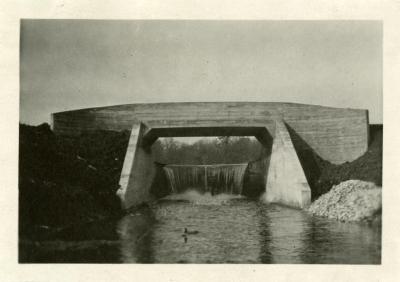 Lake Marmo dam & bridge as originally designed by O.C. Simonds
