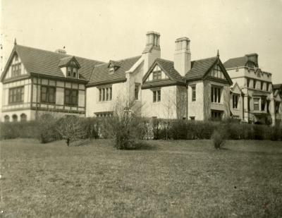 Morton Residence at Thornhill, south view from lawn